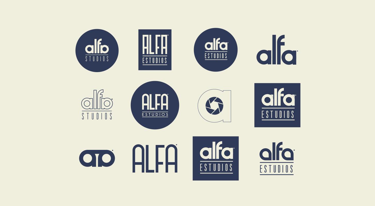 alfa电影工作室品牌形象设计