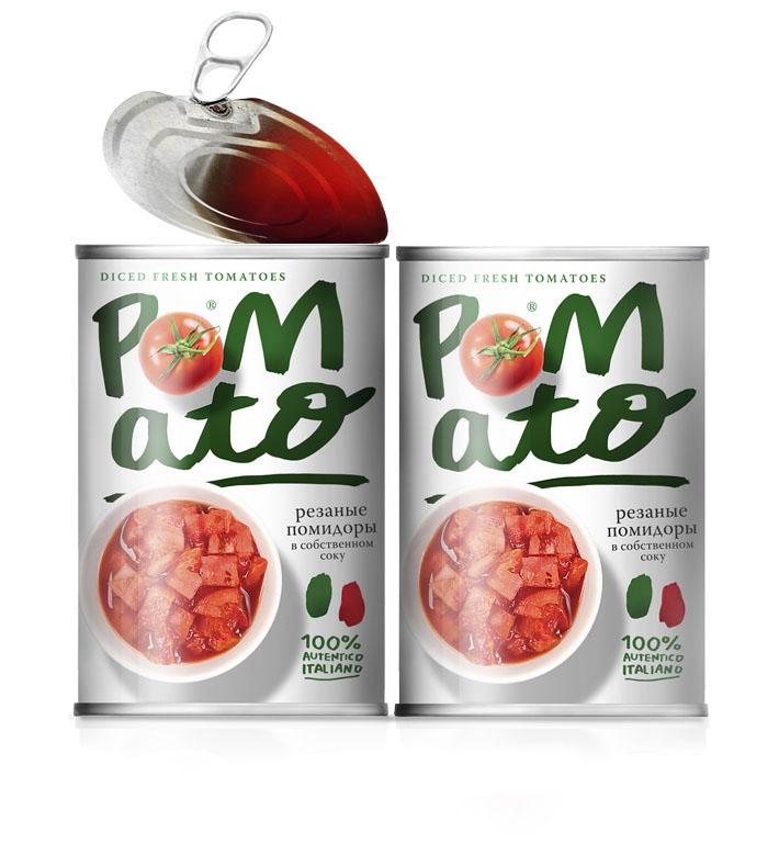 pomato番茄罐头包装设计
