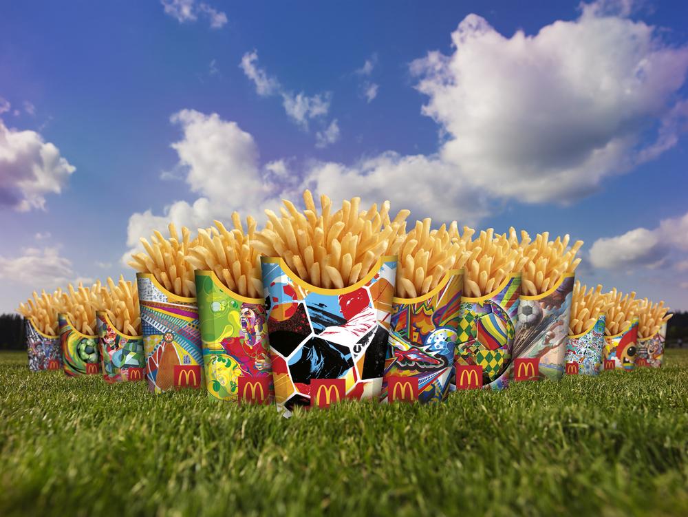 世界杯 麦当劳薯条包装重新设计图片