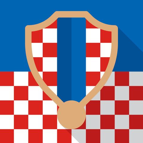 2014 巴西世界杯 32足球队徽章扁平化设计