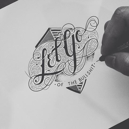 raul alejandro创意手绘字体设计