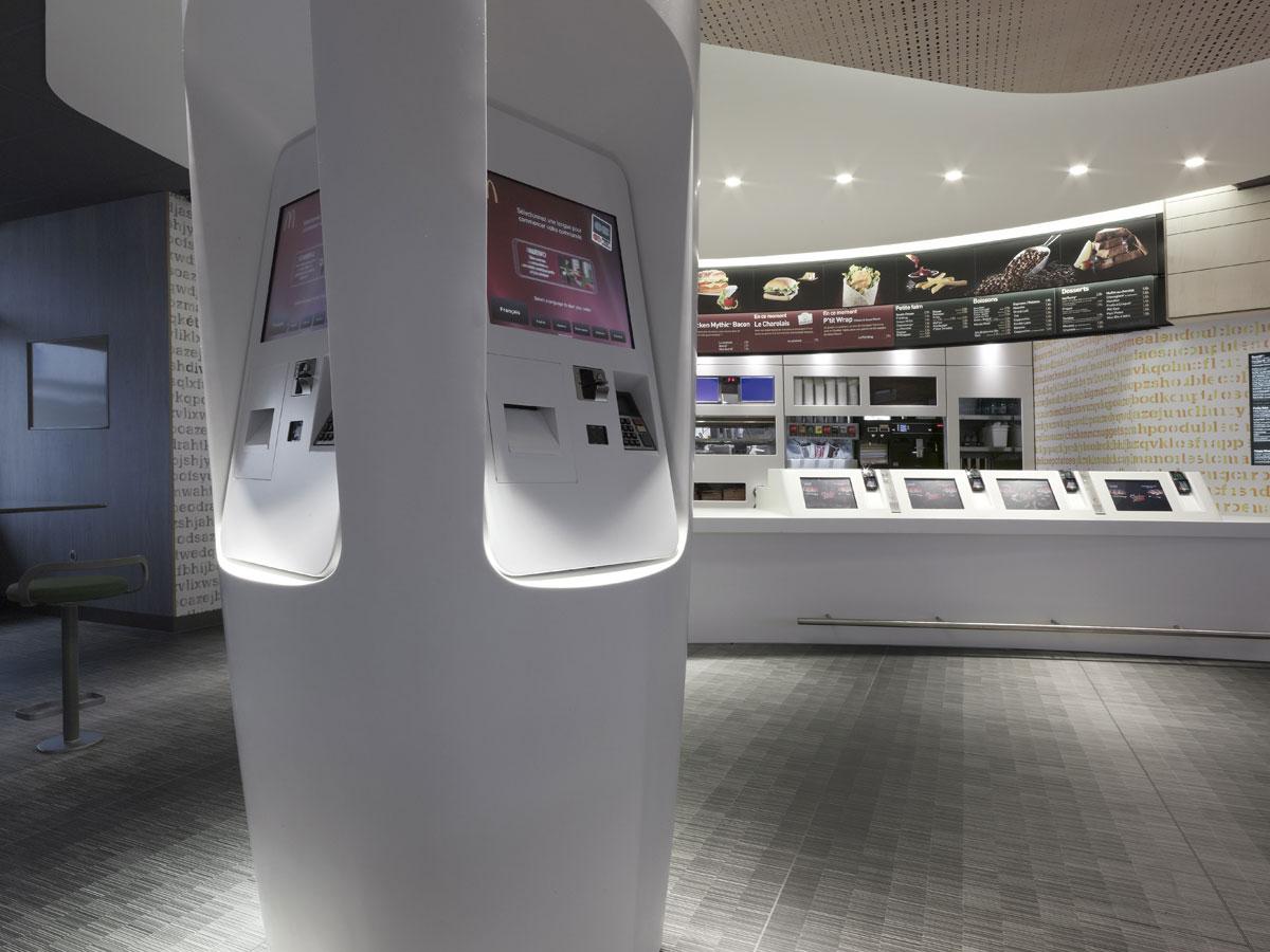【国际在线】法国麦当劳餐厅内部形象设计