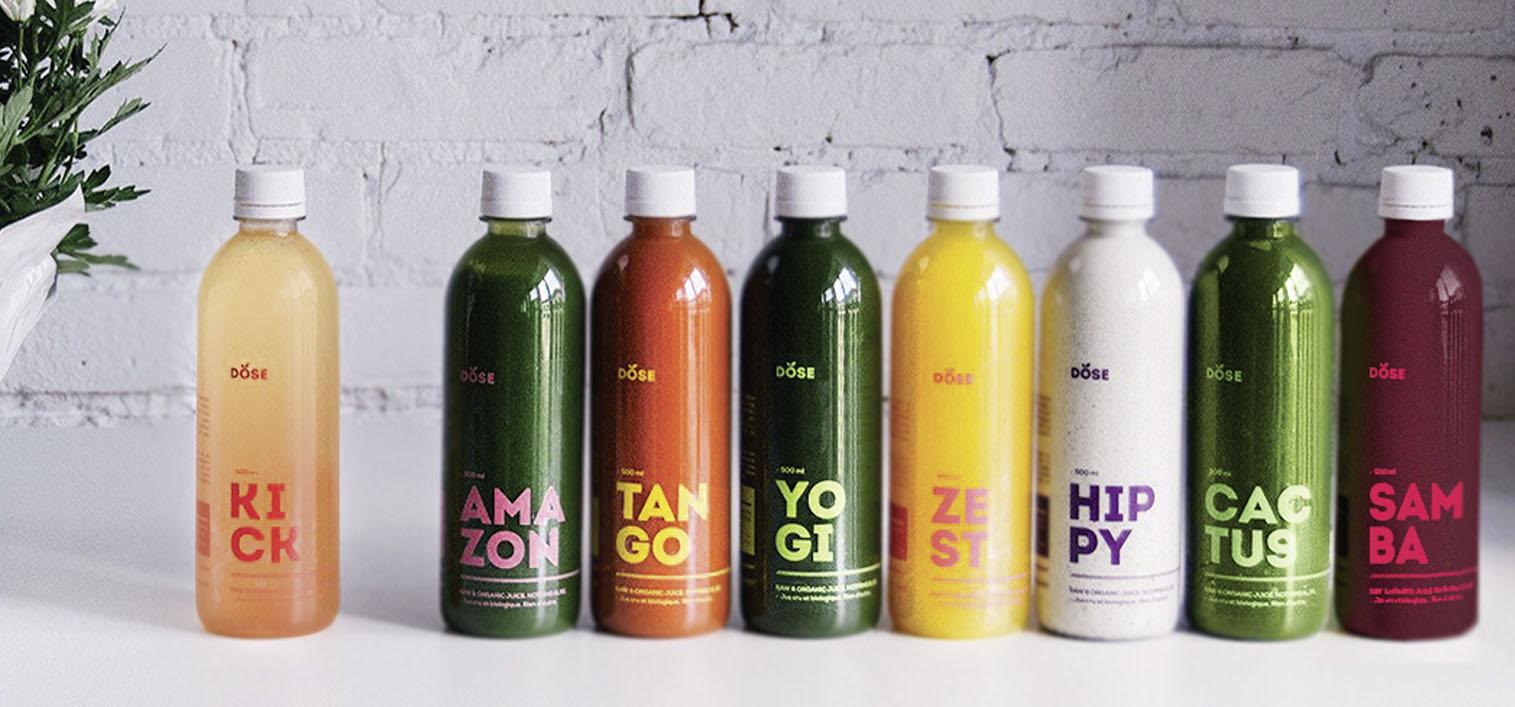 dose 有机果汁品牌及包装设计