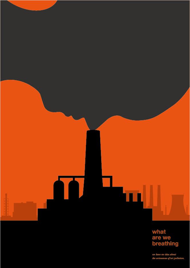 首届中国雾霾主题公益海报展入选作品欣赏 精选
