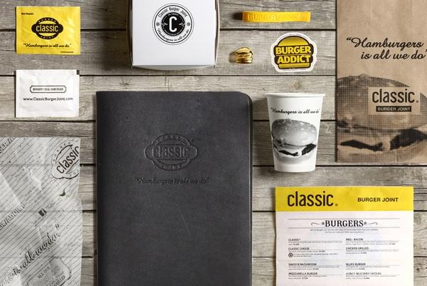classic 汉堡 品牌形象设计