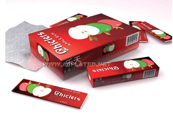 乐天口香糖包装设计说明:目前市场上的口香糖种类非常繁多,我们