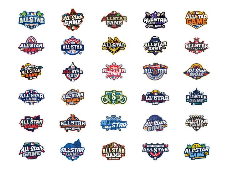 mlb all star game logos 美国职棒大联盟全明星赛的标志
